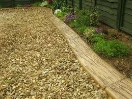 border stones wood edging ideas brick