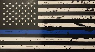 Buy 3 Pack Reflective Tattered Thin Blue Line Us Flag Decal Stickers For Cars Trucks 5 X 2 7 Inch American Usa Flag Decal Sticker Honoring Police Law Enforcement Vinyl Window Bumper