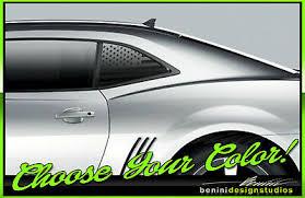 American Flag Quarter Window Decal Sticker Clean Fits 2009 2015 Camaro Rs Ss Ebay