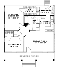country style house plan 2 beds 1