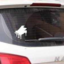 Yjzt 13 8cm 15 3cm Music Piano Happy Window Vinyl Decal Beautiful Car Sticker Black Silver C27 0042 Shop The Nation