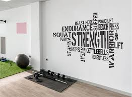 Wallency Motivational Gym Wall Decal Fitness Words Removable Etsy Gym Wall Decal Gym Decor Inspirational Wall Decals