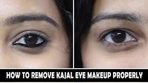 how to remove kajal makeup properly