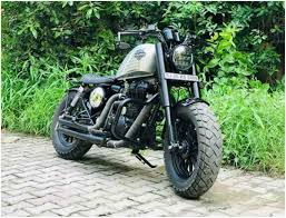this royal enfield impersonates a