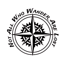 Car Wall Art Sticker Car Decal Car Sticker 15 3x15 3cm Not All Those Who Wander Are Lost Compass Decals Car Sticker Car Styling For Car Laptop Window Sticker Exterior Accessories Itrainkids Com