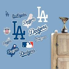 The Los Angeles Dodgers Team Logo Assortment Wall Decal Is Perfect For Showing Of Los Angeles Dodgers Fandom In Small Dodgers Los Angeles Dodgers Wall Decals