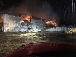 Anderson Hay Warehouse Burns to the Ground Near Aurora State Airport