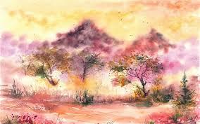 wallpaper watercolor painting