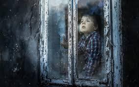 wallpaper cute boy look out window