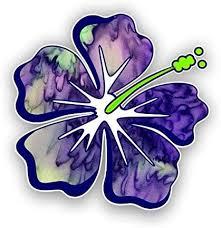 Amazon Com Hibiscus Flower Hawaiian Car Truck Window Laptop Vinyl Decal Sticker Purple Haze Automotive