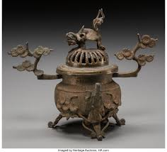 A Japanese Archaic-Style Bronze Censer. 5-3/4 inches high (14.6 | Lot  #61609 | Heritage Auctions