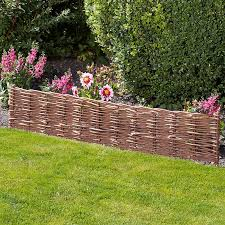 twin pack of woven willow border edging