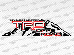 Toyota Trd Off Road Mountain Stickers Decal