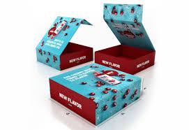 blue box packaging custom printed