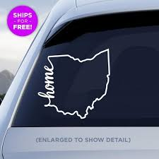 Ohio State Home Decal Oh Home Car Vinyl Sticker Etsy