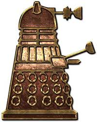 Amazon Com Bargain Max Decals Dalek Inspired Robot Side Copper Metal Window Laptop Car Sticker 5 5 Automotive