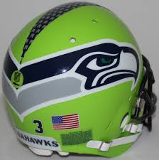 Seattle Seahawks 3 Russell Wilson Custom Full Size Authentic Helmet Pristine Auction