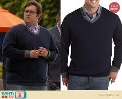 WornOnTV: Sylvester's blue v-neck sweater with grey trim on ...