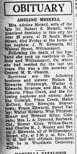 Addie Edwards Meixsell dies - Newspapers.com