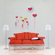 Amazon Com Love Heart Diy Removable Wall Sticker 3d Led Wall Lamp Night Light Vinyl Decal Home Kitchen