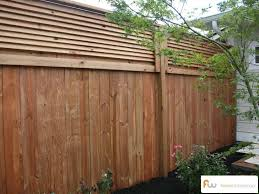 The Stanton Louvered Top Wood Privacy Fence Pictures Per Foot Pricing Backyard Fences Patio Fence Fence Decor