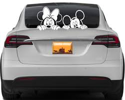 02 01 Minnie Mouse Bow Car Window Vinyl Decal Sticker