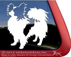 Custom Papillon Dog Decals Stickers Nickerstickers