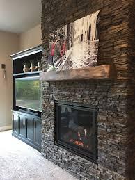 unique solid stone fireplace surround