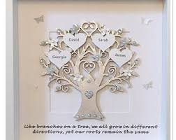 personalised silver quote like branches on a tree family tree d
