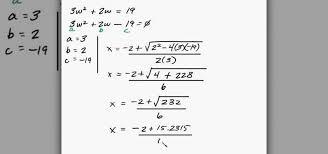 solve quadratic equation word problems