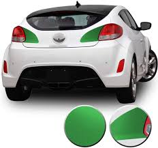 Amazon Com Optix Rear Trunk Tail Light Accent Vinyl Overlay Wrap Graphic Decal Compatible With Hyundai Veloster 2012 2013 2014 2015 2016 2017 Metallic Matte Chrome Green Automotive