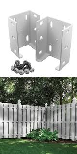Veranda Rail Bracket Aluminum Made Vinly Fencing Not Rust Light Weight 2 Pack Vinyl Fence Rail Bracket Veranda Railing