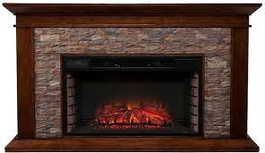 stone electric fireplace