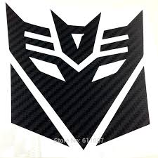 4 5 Transformer Decepticon Car Carbon Fiber Badge Decal Auto Stickers Sticker Packaging Sticker Carbadge Sticker Aliexpress