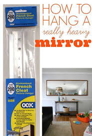 how to hang a heavy mirror hanging