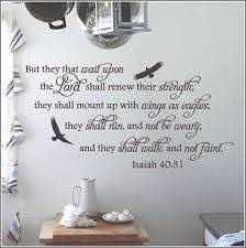 Isaiah 40 31 Wings Like Eagles Bible Verse Wall Decal