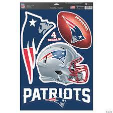 Nfl New England Patriots Window Decals Oriental Trading