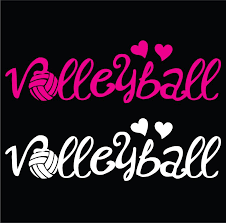Volleyball Vinyl Stickers Hearts Gymrats Volleyball Clothing Co