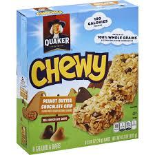 quaker chewy granola bars peanut er