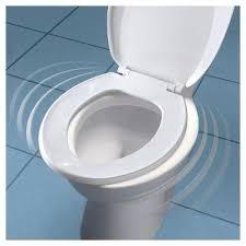 round plastic toilet seat with whisper