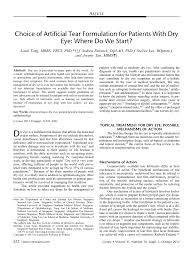tear formulation for patients with dry eye