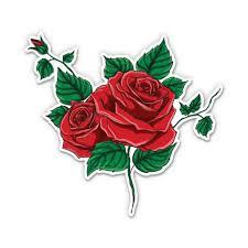 Red Roses 5 Vinyl Sticker For Car Laptop I Pad Waterproof Decal Walmart Com Walmart Com