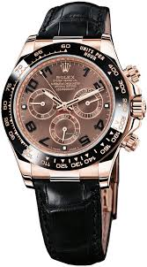 rolex daytona everose gold leather