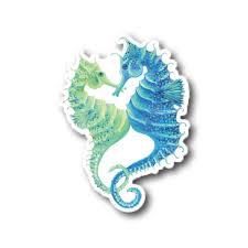 Seahorse Love 3 Waterproof Vinyl Sticker Cornercopia Farm And Studio
