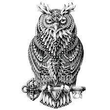 My Wonderful Walls Ornate Great Horned Owl By Bioworkz Wall Decal Wayfair