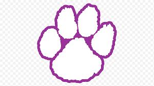 Clemson University Clemson Tigers Football Paw Clemson Tigers Baseball Tiger Purple Animals Tiger Heart Paw Png Nextpng