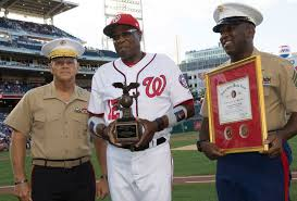 Washington Nationals manager Dusty Baker is honored by Marine ...