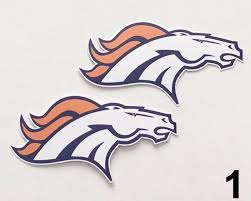 Denver Broncos 2 Nfl Team Logo Vinyl Decal Sticker Car Window Wall Cornhole