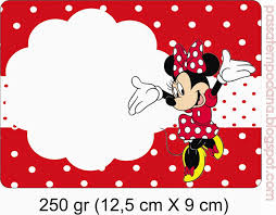Minnie In Red And Polka Dots Free Printable Party Kit Etiquetas
