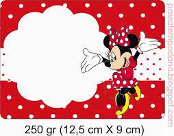 Minnie In Red And Polka Dots Free Printable Party Kit Etiquetas Minnie Invitaciones Minnie Invitacion De Minnie Mouse